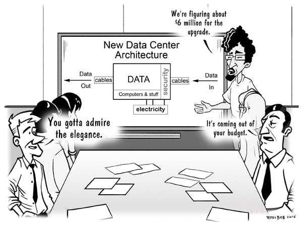 Data center cartoon