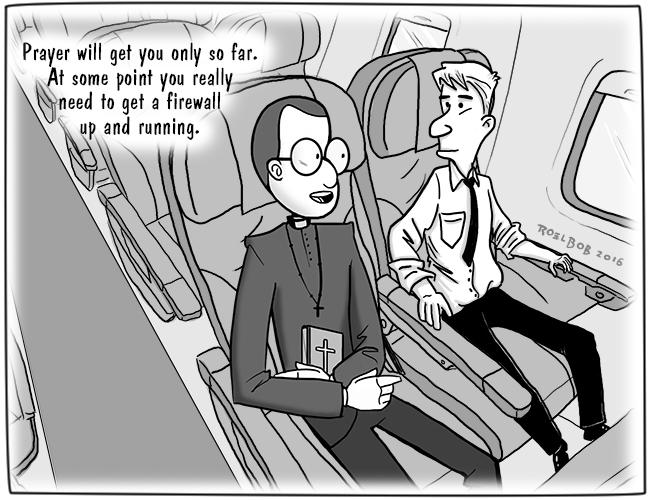 firewall cartoon