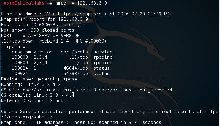 nmap tutorial  common commands
