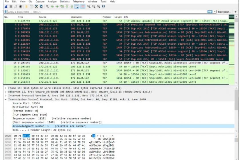 Wireshark trace